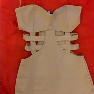 NEW Charlotte Russe extra small beige dress